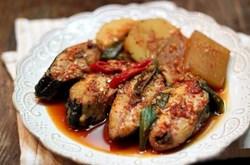 Làm món cá kho củ cải hàn quốc