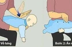 Cách sơ cứu đúng cách khi trẻ bị sặc sữa