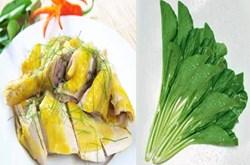 Các loại rau không nên ăn cùng thịt gà