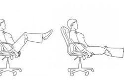 Bài tập thể dục với ghế xoay tại văn phòng