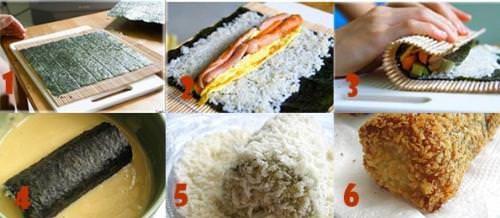 Cách làm món Kimbap chiên xù cực ngon