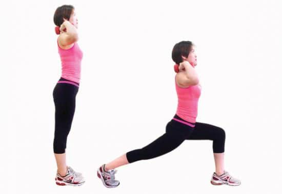 Giảm cân với yoga kết hợp tạ 4