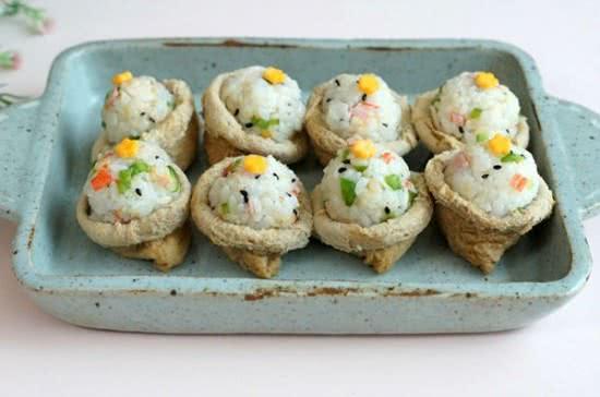 Cách làm sushi đậu hũ chiên ngon