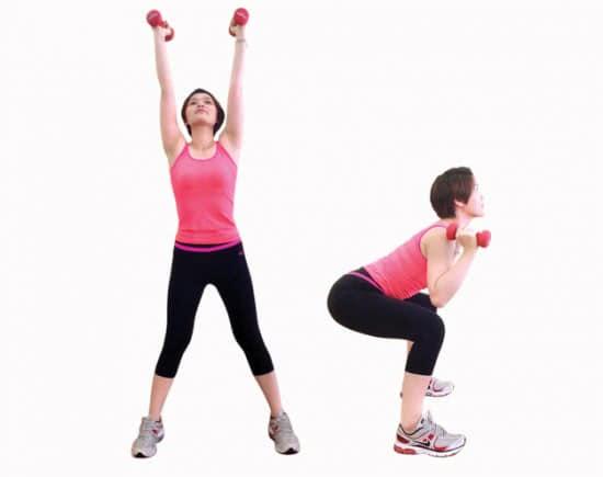 Giảm cân với yoga kết hợp tạ 3