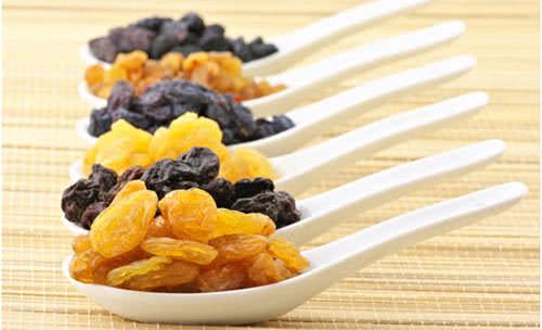 nho khô, Thực phẩm ngăn ngừa bệnh thiếu máu