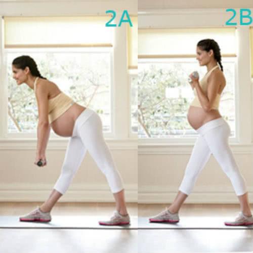 Động tác lưng – bụng giảm đau lưng khi mang bầu