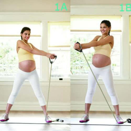 Động tác xoay tay giảm đau lưng khi mang thai