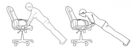 Chống đẩy với ghế