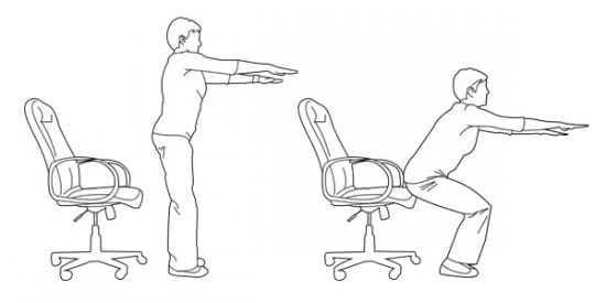 Bài tập squat với ghế