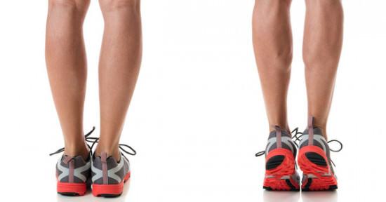 Tập kiễng chân thu nhỏ bắp chân